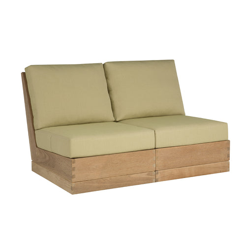 Poolside Elevated Armless Two-Seat Sofa
