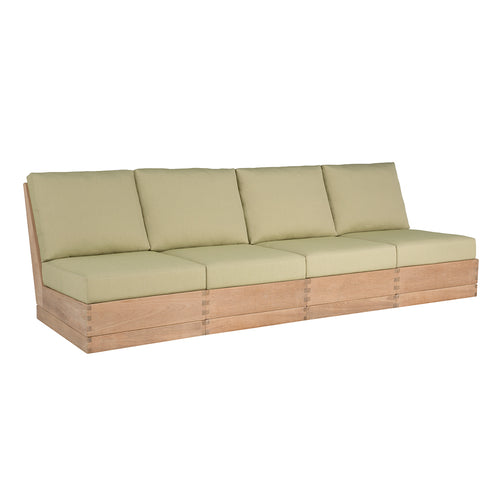 Poolside Elevated Armless Four-Seat Sofa