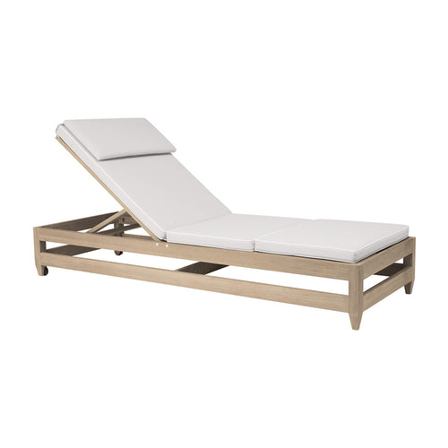 Classic Double Railed Armless Chaise