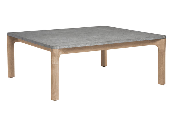 Franck Square Coffee Table with Stone Top