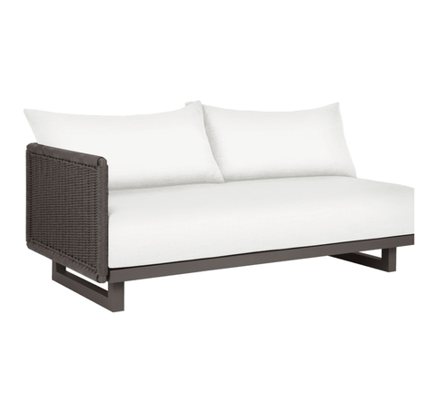 Portofino Left Arm Sectional Two-Seat Sofa