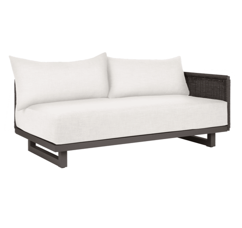 Portofino Right Arm Sectional Two-Seat Sofa