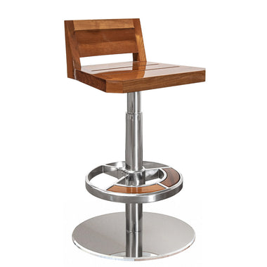 Peninsula Freestanding Low Back Yacht Stool with Yacht Finish