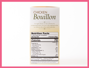 Chicken Bouillon Broth - Box of 7 meals - 1 CARB per serving!