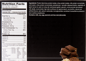 Chocolate Crisp Bar - Box of 7 meals - 5 Net Carbs per serving!