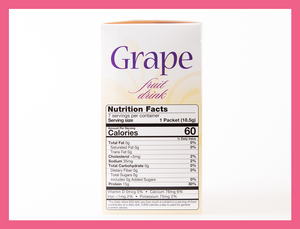 Grape Fruit Drink - Box of 7 meals - 0 CARBS per serving!