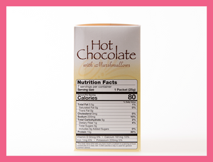 9. Hot Chocolate with Marshmallows - Box of 7 meals - 4 Net Carbs per serving!