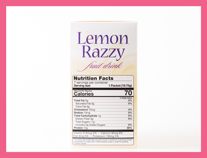 Lemon Razzy Fruit Drink - Box of 7 meals - 1 Carb per serving!