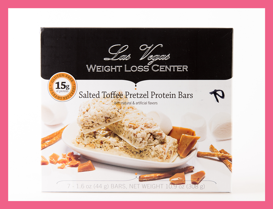 Salted Toffee Pretzel Bar - Box of 7 meals - 10 Net Carbs per serving!