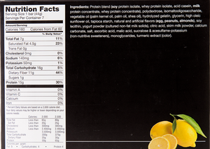 Zesty Lemon Crisp Bar - Box of 7 meals - 5 Net Carbs per serving!