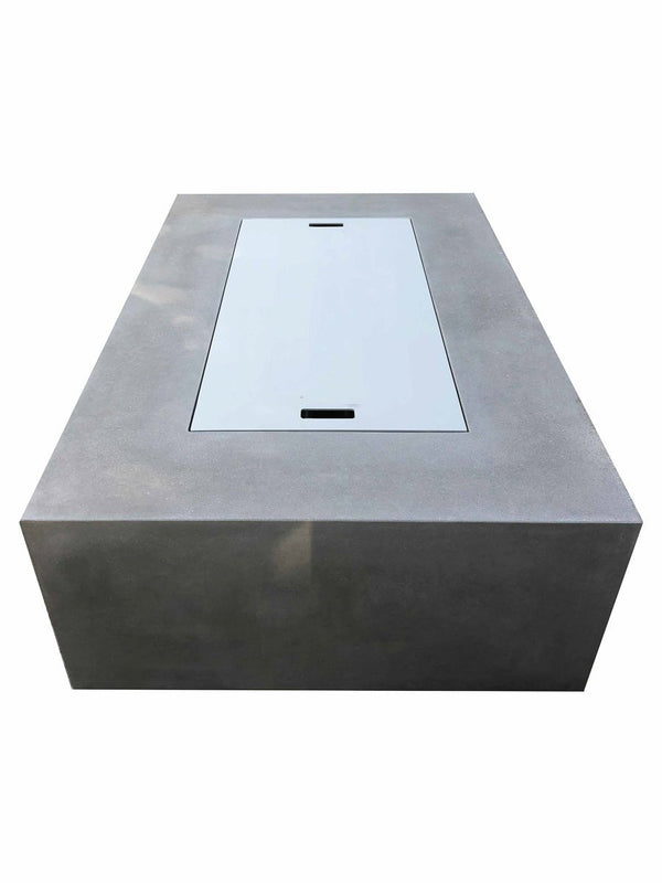 Aluminum Fire Pit Cover Concrete Wave Design