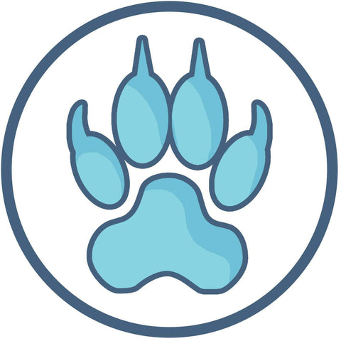 Native American Wolf Track Symbol