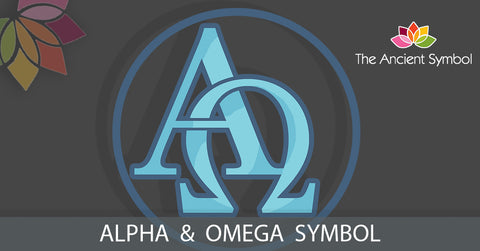 alpha and omega greek and christian symbols.