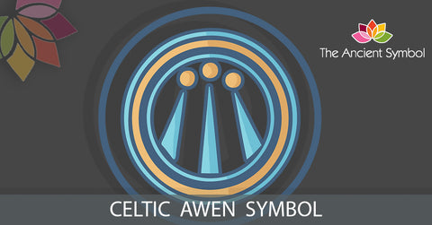 awen celtic druid symbol