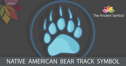 native american bear track symbol, traditional american tribal art symbol meanings explained