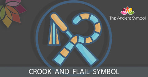 Ancient egyptian crook and flail symbol