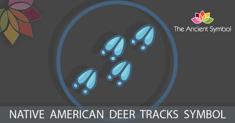 native american deer tracks symbol, traditional american tribal art symbol meanings explained