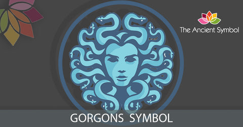 gorgons spiritual ancient greek symbol. medusa
