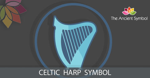 Harp celtic druid symbol