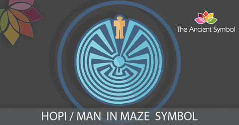 hopi man in maze native american symbol, traditional american tribal art symbol meanings explained