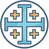The Jerusalem cross christian symbol meaning