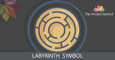 labyrinth maze ancient greek spiritual wicca witchcraft symbol.