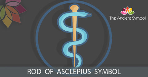Rod of asclepius, ancient greek symbol, wicca and witchcraft magic healing symbol