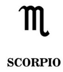 Scorpio Zodiac Star Sign Symbol