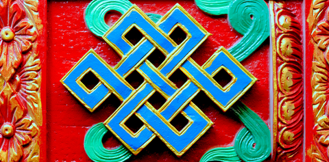 Buddhist endless knot Symbol Logo Ancient Buddhism Buddhist Symbology, the ancient symbol shop