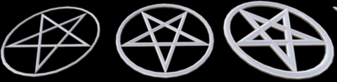Pentagram pentacle symbol logo, pagan wicca wiccan spiritual symbols, the ancient symbol shop