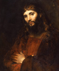 hrist with Arms Folded painting by Rembrandt, The Hyde Collection
