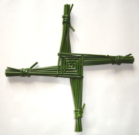 saint brigid cross, st brigid's cross from rush and straw
