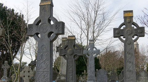 Celtic Cross Graveyard Cross Christain