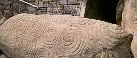 ancient single spiral patterns