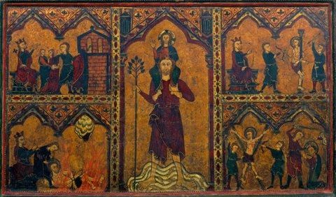 Altar frontal of Saint Christopher by Master of Soriguerola