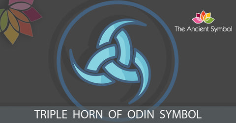 triple horn of odin ancient viking symbol, wicca