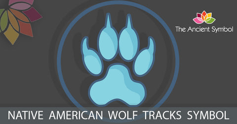 wolf tracks native american symbol, traditional american tribal art symbol meanings explained