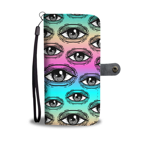 Spiritual All Seeing Eye, Buddhist Ancient Egyptian Eye Of Horus Style Phone Wallet Case