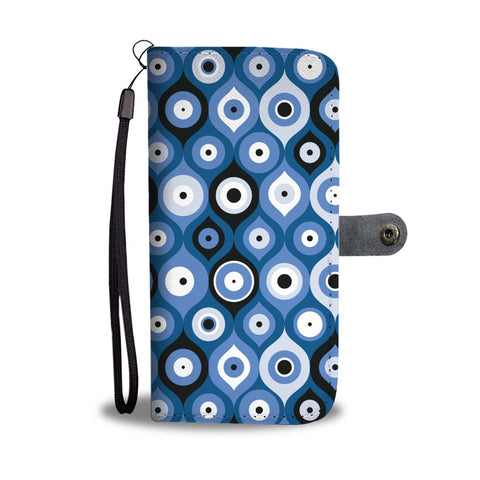 Evil Eye Geometric Design Multi Turkish Evil Eye Pattern Phone Wallet Case