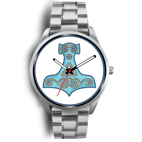 Thors Hammer Mjolnir Ancient Greece Wiccan Symbol Custom-Designed Wrist Watch