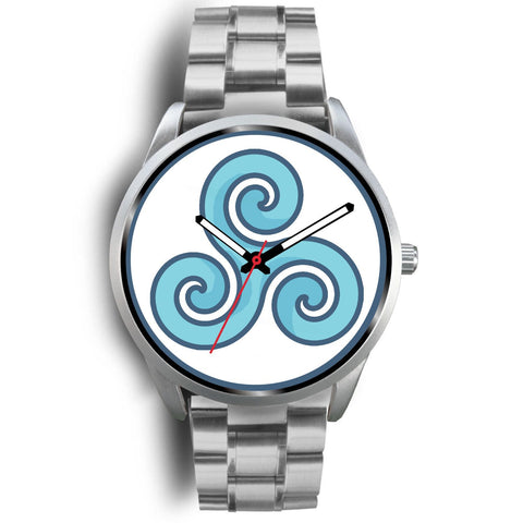 Triskele Triskelion Wiccan Greek Pagan Symbol Custom-Designed Wrist Watch