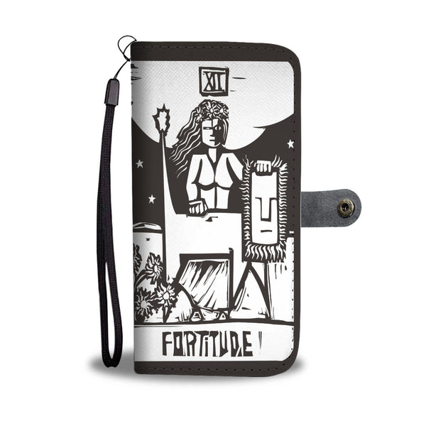 """Fortitude"" Tarot Card Phone Case Wallet"