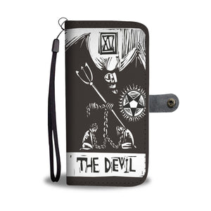 """The Devil"" Tarot Card Phone Case Wallet"
