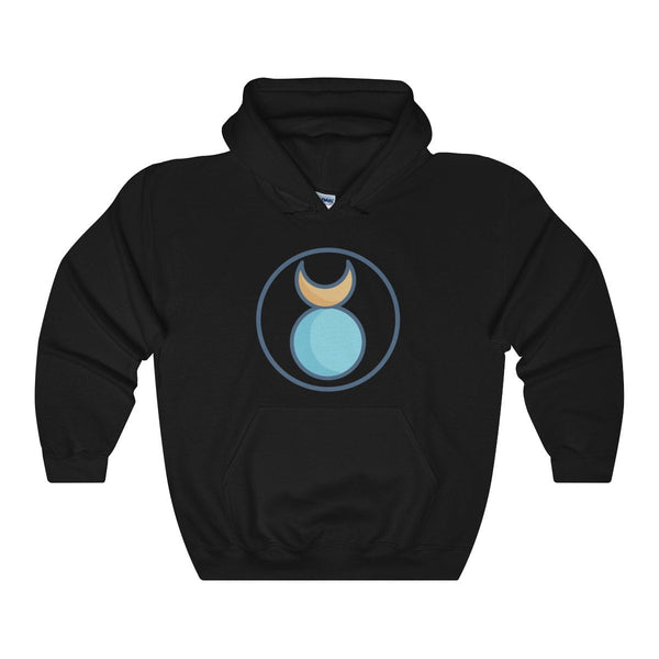 The Horned God Wiccan Pagan Spiritual Symbol Unisex Heavy Blend™ Hooded Sweatshirt