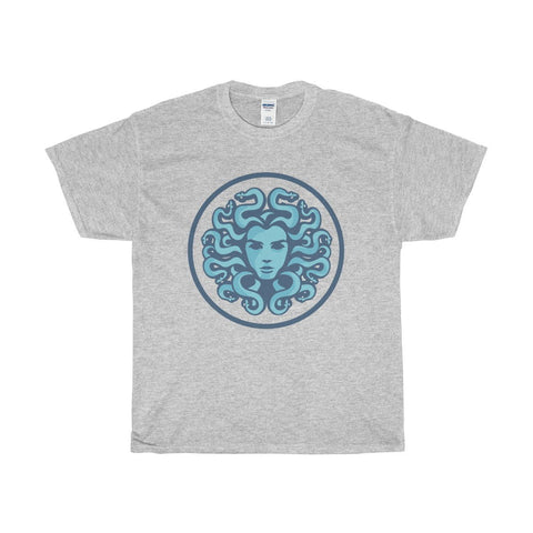 Unisex Heavy Cotton Tee, Medusa Gorgon Ancient Greek Symbol T-shirt