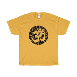 Unisex Heavy Cotton Tee, Spiritual Buddhist Om Symbol Design T-shirt