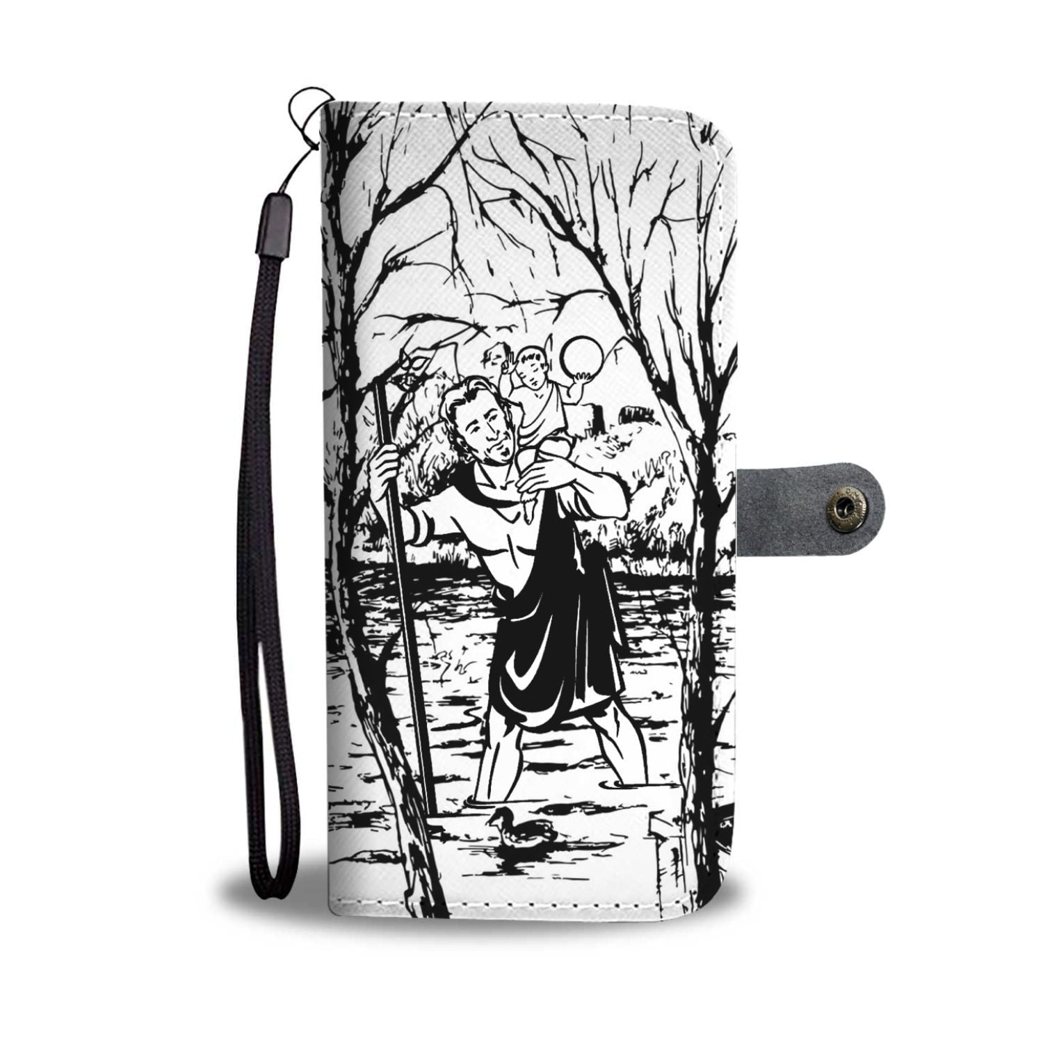 Saint Christopher Lucky Phone Case Wallet