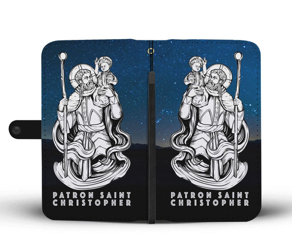 Patron Saint Christopher Phone Case Wallet