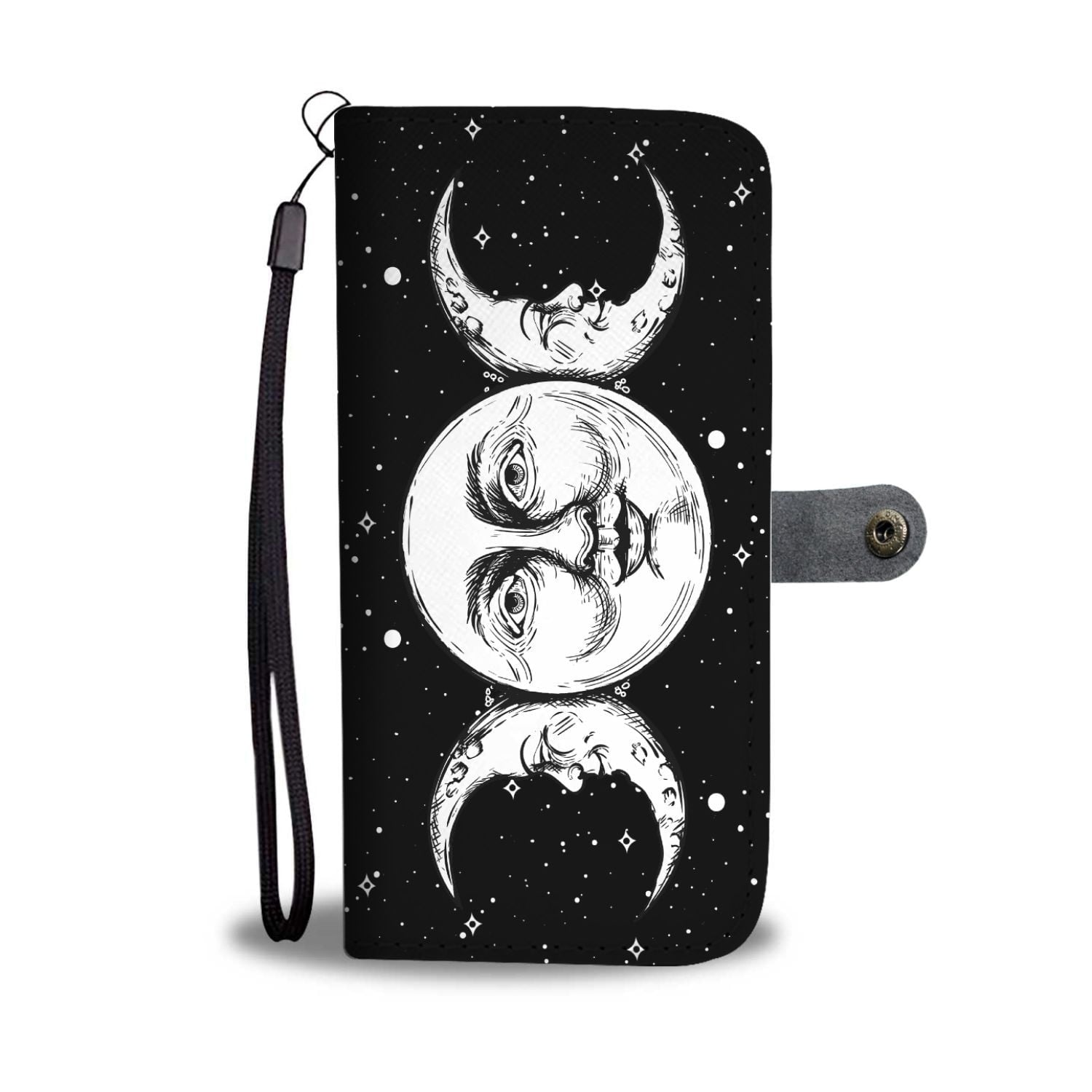 Triple Moon Wiccan Phone Case Wallet