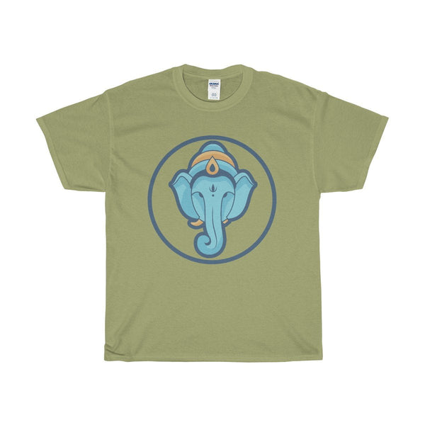 Unisex Heavy Cotton Tee, Ganesha Hindu Buddhist Elephant God Symbol T-shirt